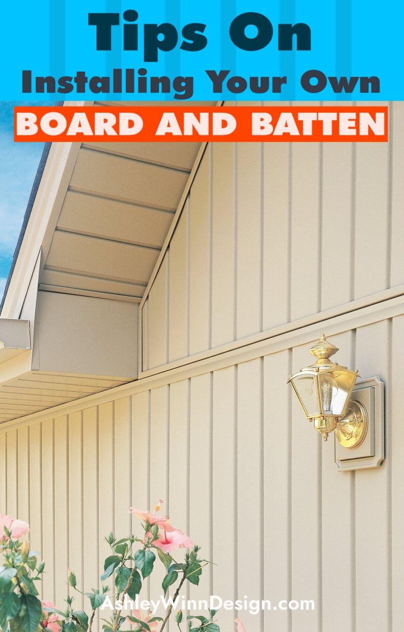 board and batten exterior siding