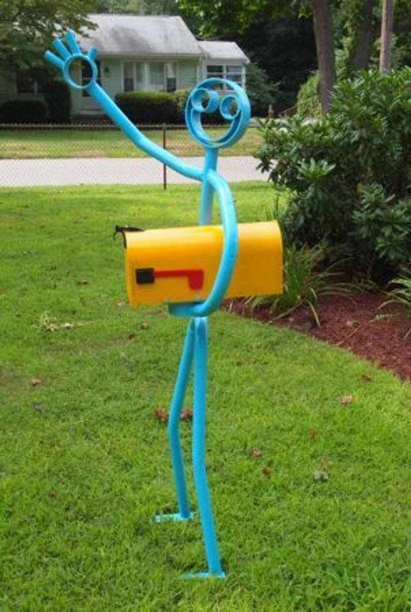 cool mailbox post ideas
