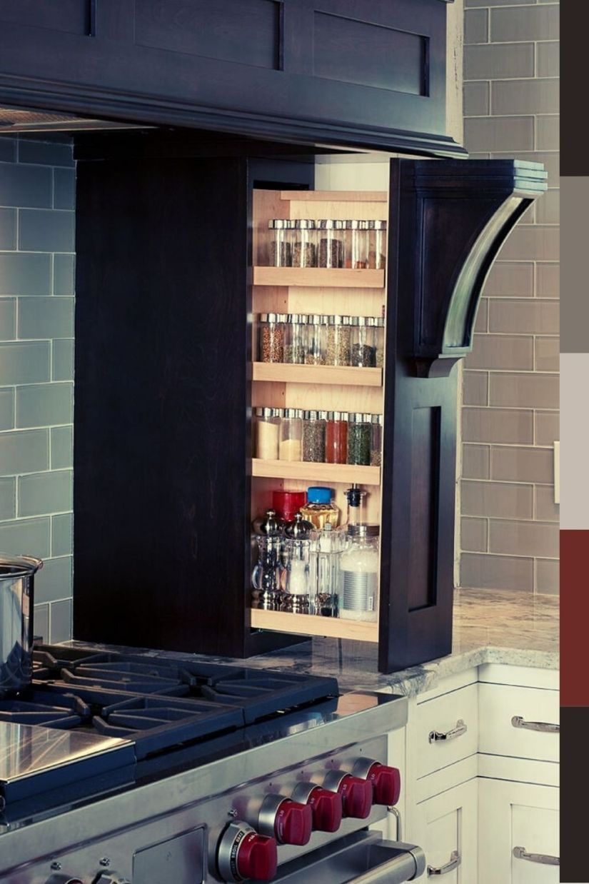 modern hidden spice rack ideas