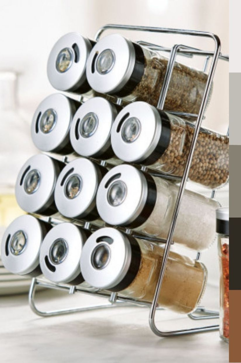 simple countertop spice rack ideas