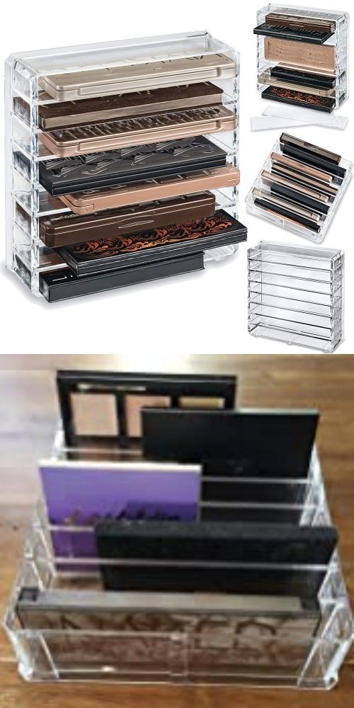 Removable palette makeup storage dividers