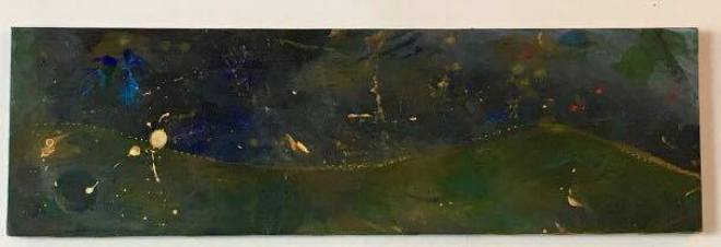 """""""Leap"""" 12 x 40 Watercolor on canvas """"..."""""""