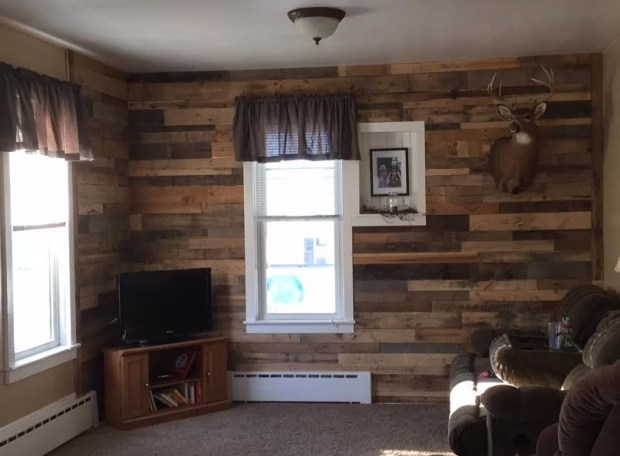 Skid board wall #1