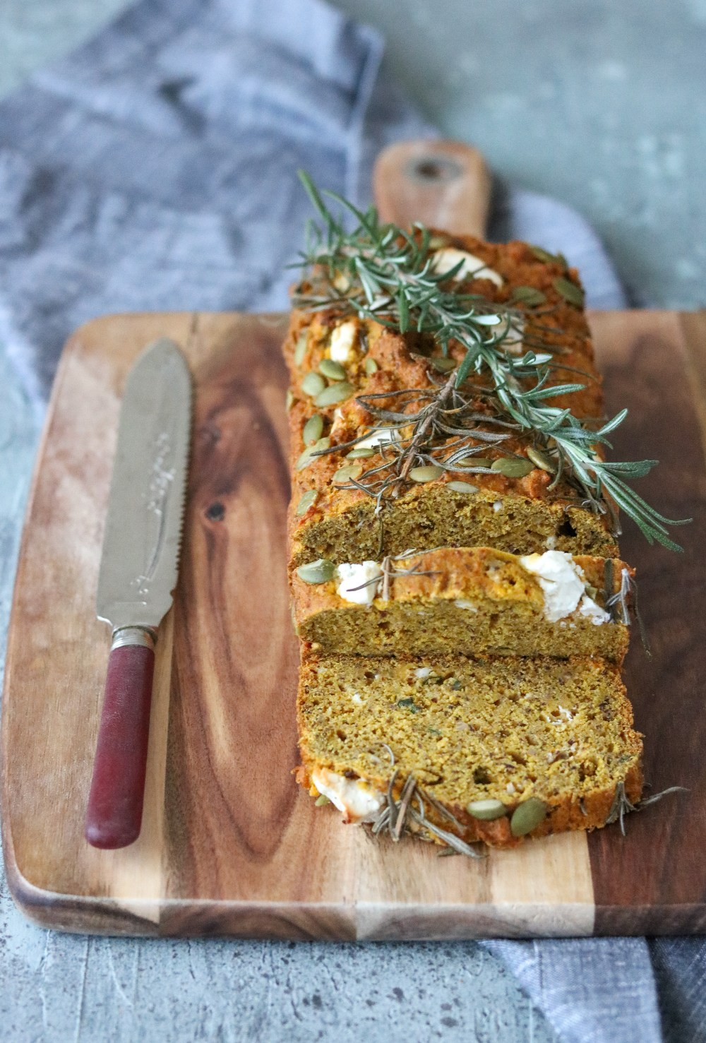 Photo: Pumpkin, Feta and Chive Loaf