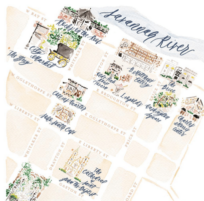 Such a pretty custom map -- this is by Jessica at Simply Jessica Marie!