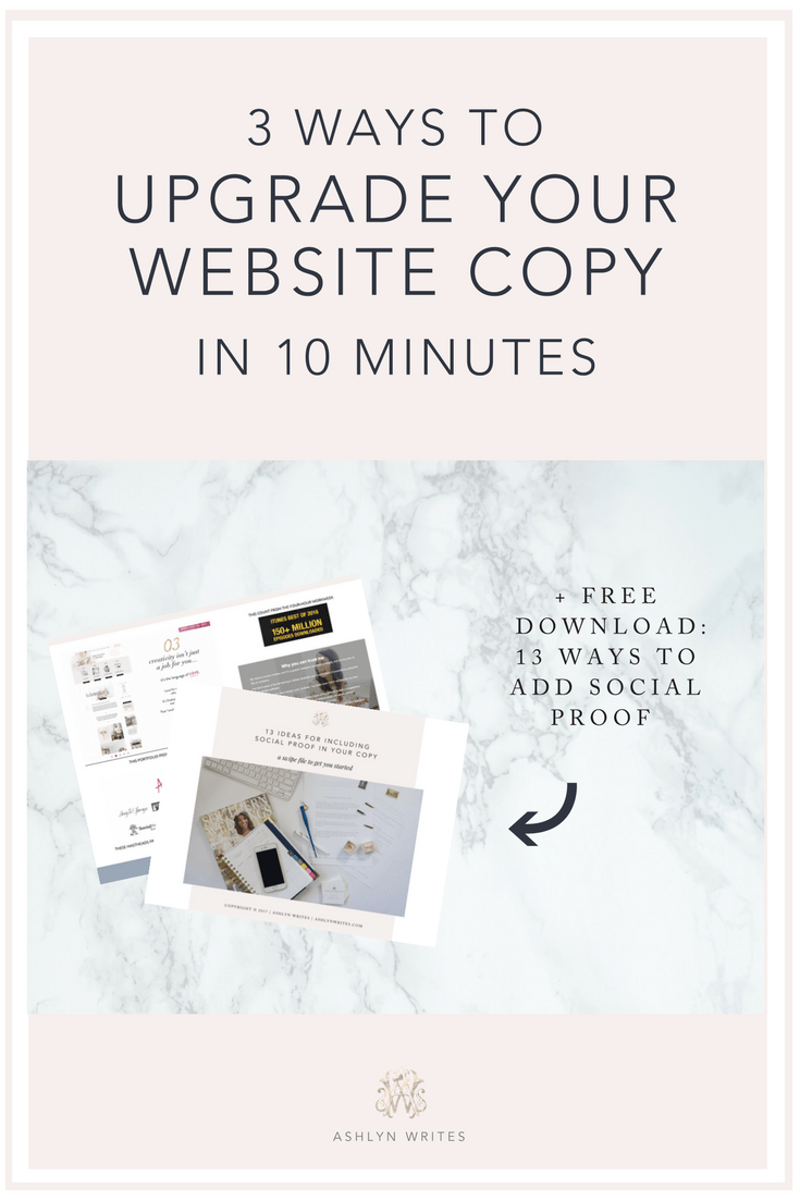 Ashlyn Writes3 Copy Upgrades You Can Make to Your Website