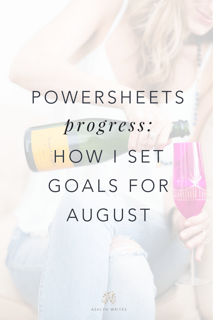 How I do goal-setting in my creative business—a guide to Powersheets from Ashlyn Carter