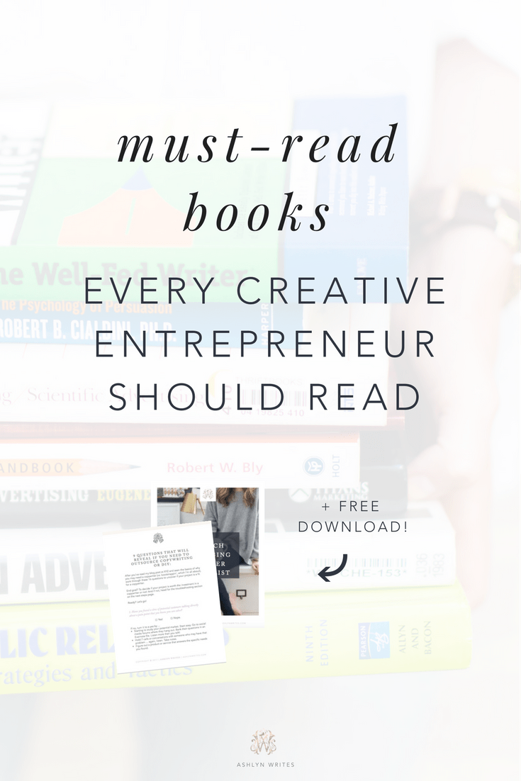 books for creative entrepreneurs by Ashlyn Carter of Ashlyn Writes