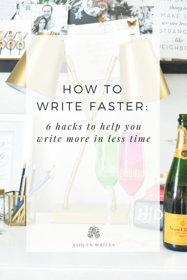 How to write more blogs in less time by copywriter Ashlyn Carter copywriting tips