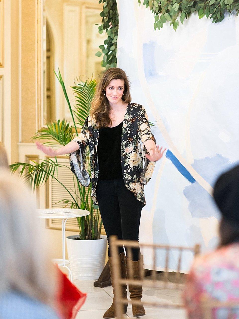 The Joyful Influencer retreat at the kentucky castle Ashlyn Carter speaking from Ashlyn Writes