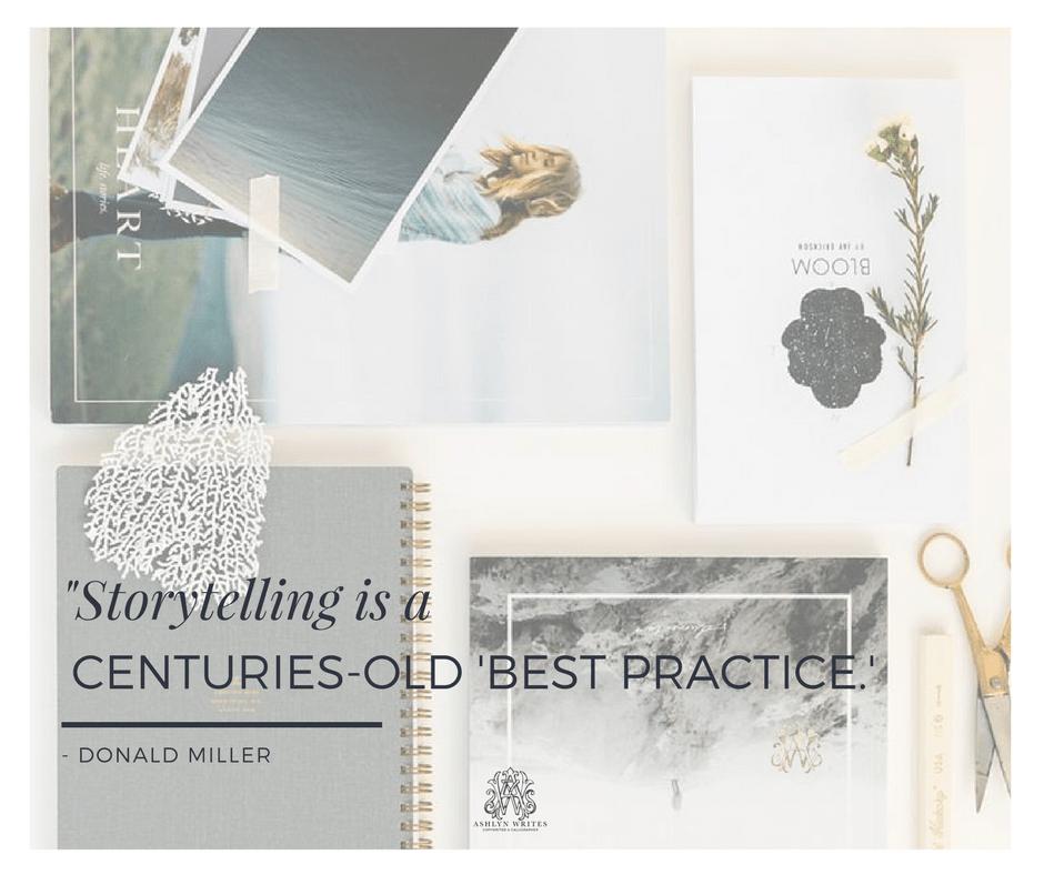 Storytelling copywriting tip from creative copywriter Ashlyn Carter of Ashlyn Writes