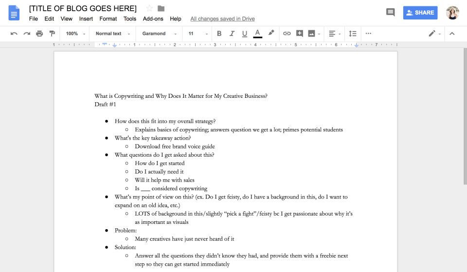 Blog post writing tips