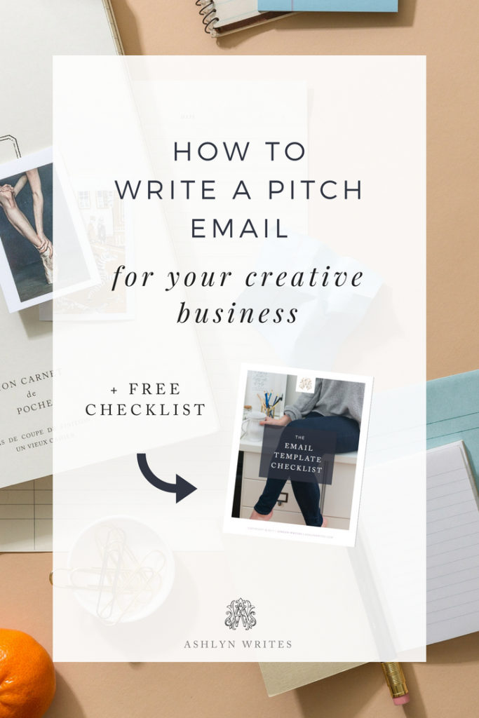How to Write a Pitch Email - Ashlyn Writes