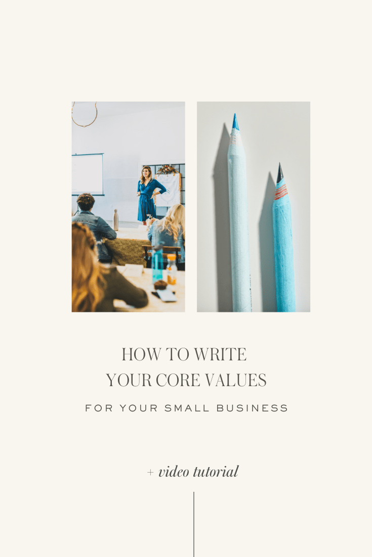 How to write your core values for your small business | Ashlyn Writes