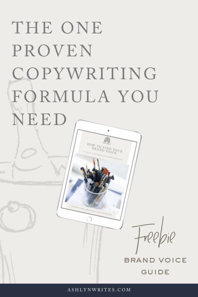 The One Proven Copywriting Formula You Need_AshlynWritesCopywriting_Pinnable