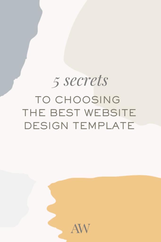 5 secrets to choosing the best website template- Ashlyn Writes