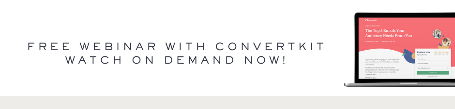 on demand webinar with convertkit