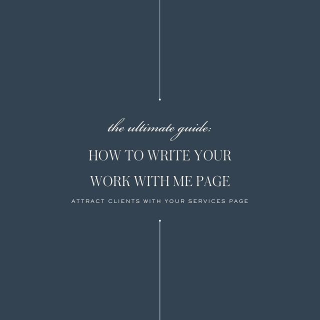 How to Write Your Work With Me Page  Blog from Ashlyn Carter
