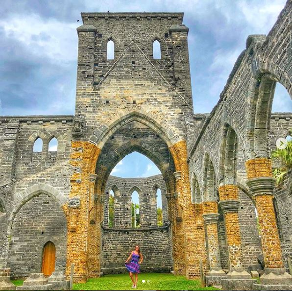 photo of the unfinished church in Bermuda