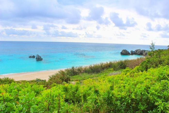 20 photos to inspire you to visit bermuda, photo overlooking part of horseshoe bay