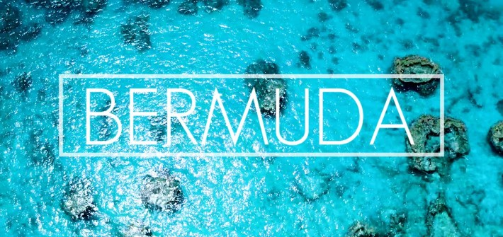 Photo of the ocean with the words Bermuda