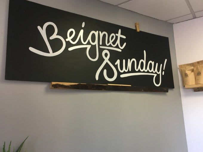 Every Sunday is Beignet Sunday at Wild Flours Gluten Free Bakery in Giffnock, Glasgow.