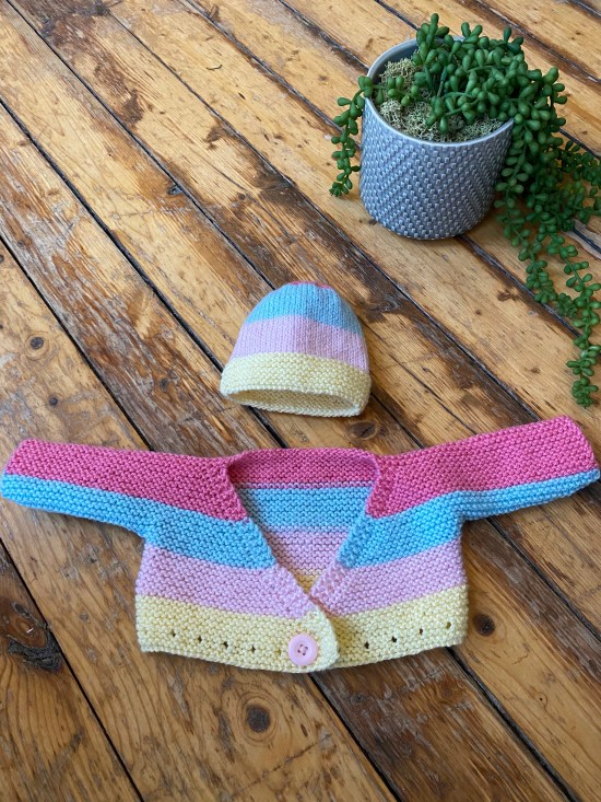 Battenberg Baby Knit Hat Pattern