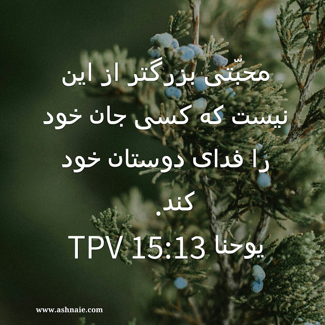 یوحنا باب ۱۵ آیه 13