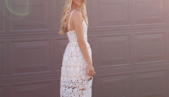 777418f161123 Neutral White Lace Baby Shower Dress - Ash N' Fashn