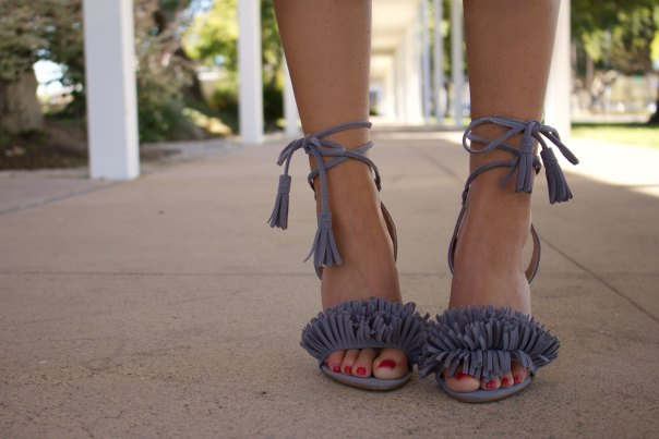 lace up finge heels