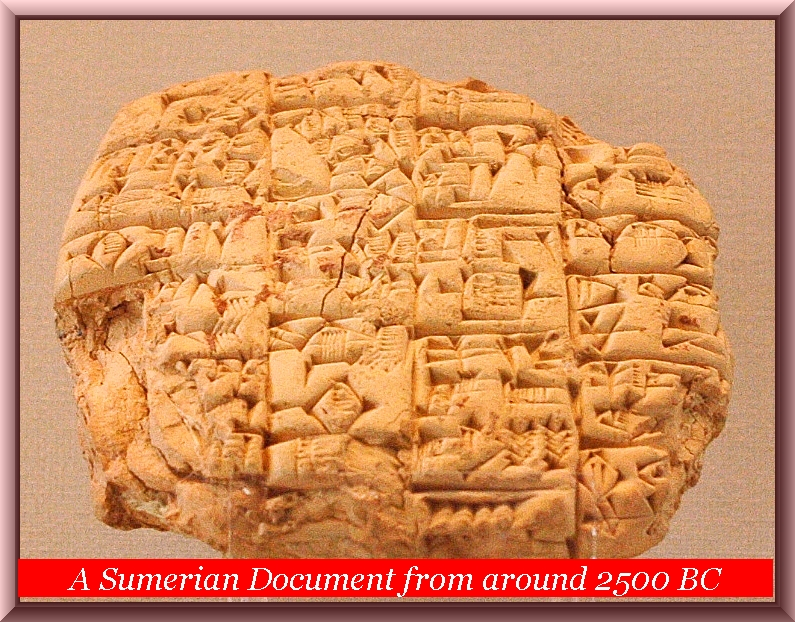 Ancient Sumerian belongs to the Austric group of languages - Old Tamil
