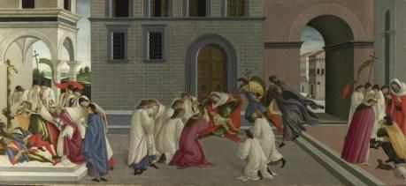Sandro Botičeli, ƮRI MIṚCLZ V ST. ZNÔBỊS, c. 1500