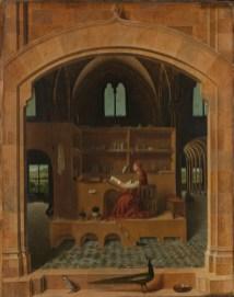 Antonelo da Mesīna, ST. JRÔM IN HIZ STUDI, c. 1475