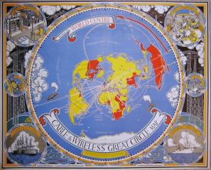 Đ CEBL N WÎRLS GRT SRCL MAP, 1945