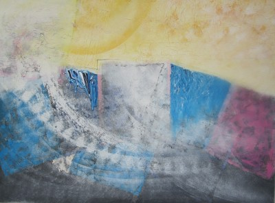 With Lucia Gouvêa Pimentel │ AMAYELLOW │ 2004 │ Acrylics on canvas │ 75 x 101 cm