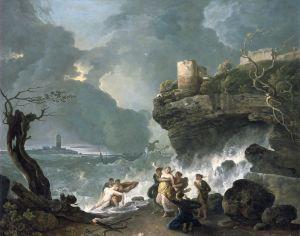 SÊX N ALSAYNI │ 1768 │ Ŷl on canvs │ Našnl Myziym v Wêlz, Cādif