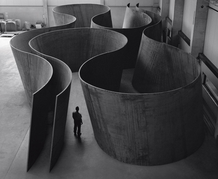 Inside Out, 2013. Weatherproof steel, 158 x 982 x 482 1/2 inches (401.3 x 2,494.3 x 1,225.6 cm). Photo by Lorenz Kienzle