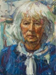 Mary Keen - The Gardener. Oil on canvas.