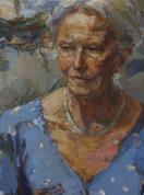 Diana Rawstron - The Lawyer. Oil on canvas.