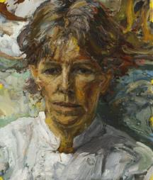 Sally Clark - The Cook. Oil on canvas.