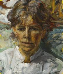 Sally Clark - The Cook. Oil on canvas.