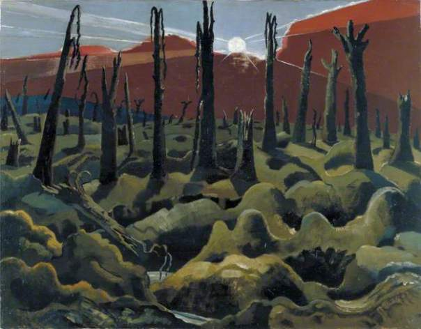 Paul Nash, We Are Making a New World. Date painted: 1918 Oil on canvas, 71.1 x 91.4 cm. Collection:  IWM (Imperial War Museums)