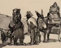 Burgundian Peasants, by Josef Herman