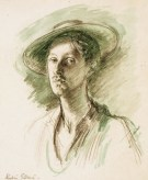 Robin Guthrie. Self-Portrait , c.1947, pencil and w/c on paper, 38 x 29 cm 15 x 11 3/8 in