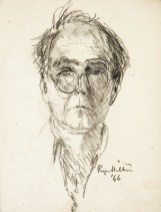 Roger Hilton. Self-Portrait , 1966, pencil on paper, 24 x 18cm