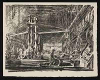 BONE, David Muirhead. A workshop (1917)