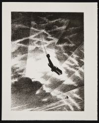 NEVINSON, Christopher Richard Wynne. Swooping down on a Taube (1917)