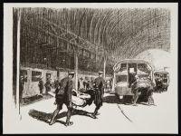 SHEPPERSON, Claude Allin. Detraining in England (1917)