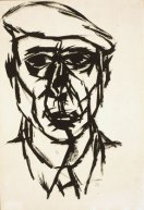 William Gear, Self-Portrait, 1953, pen and ink on paper
