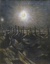 A Star Shell, exhibited 1916, painting. Oil on canvas support: 508 x 406 mm. © Tate, London